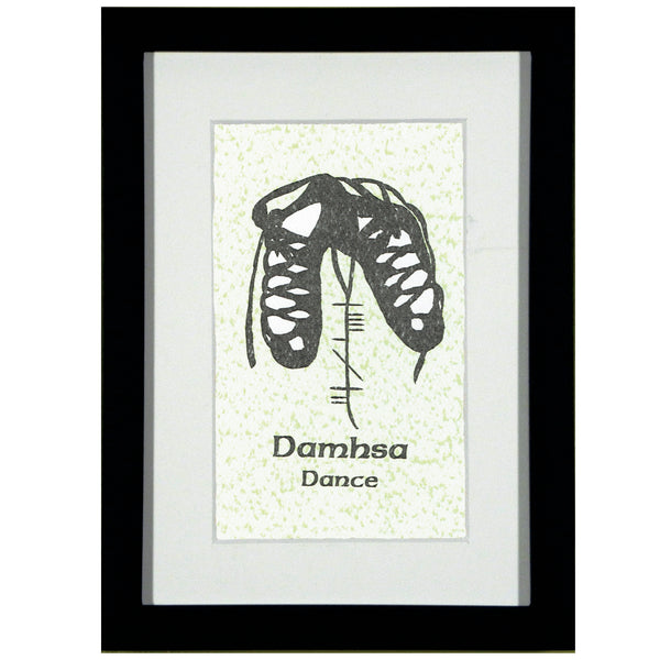 Ogham Art Damhsa Dance Print Celtic Gift Green