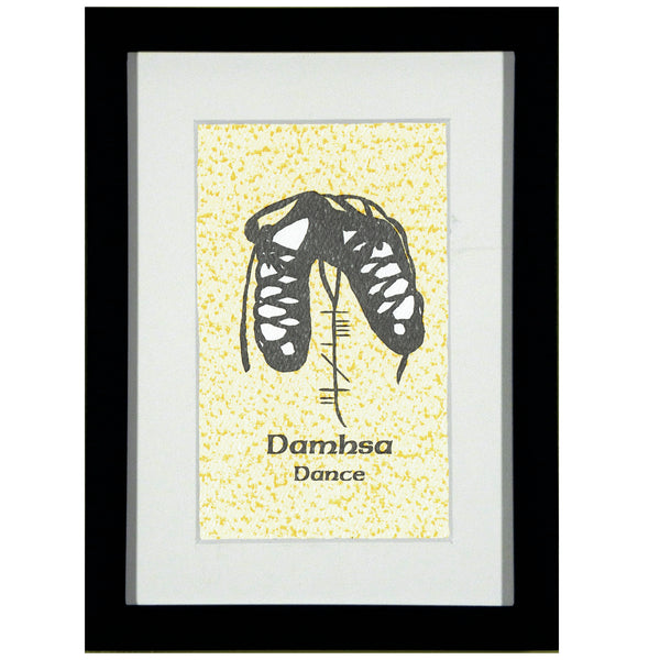 Ogham Art Damhsa Dance Print Celtic Gift Gold