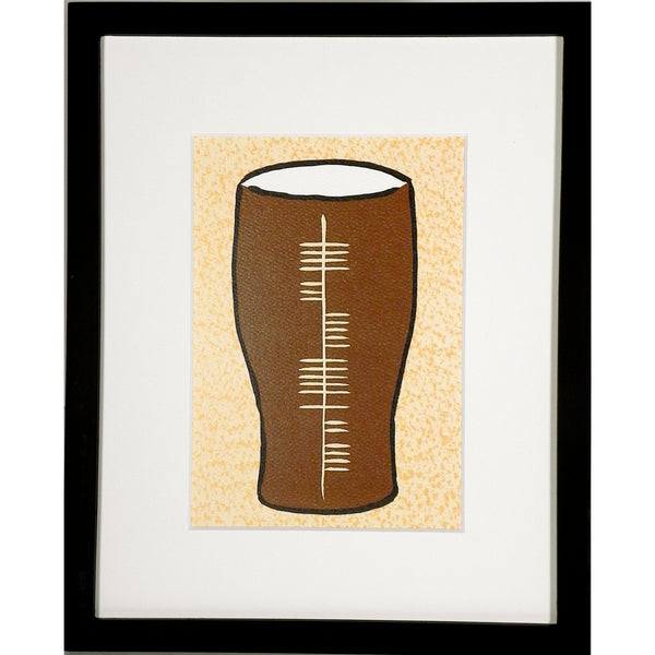 Ogham Art Slainte Health Pint Glass Print