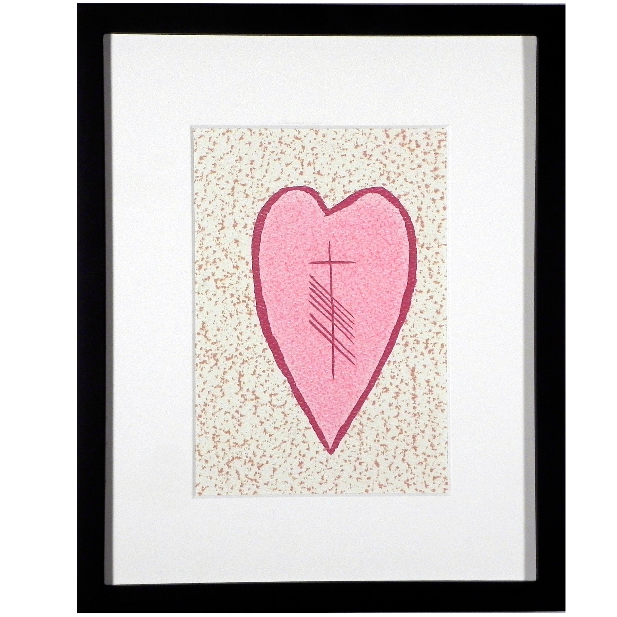 Ogham Art Love Gra Heart Print Celtic Gift