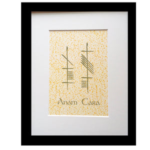 Soul Friend Anam Cara Ogham Art Framed 8x10 Print