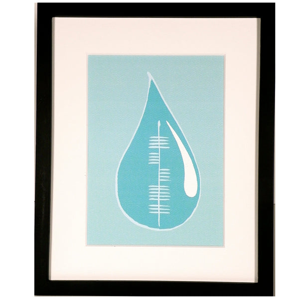 Ogham Art Water Uisce Elements Print Celtic Gift