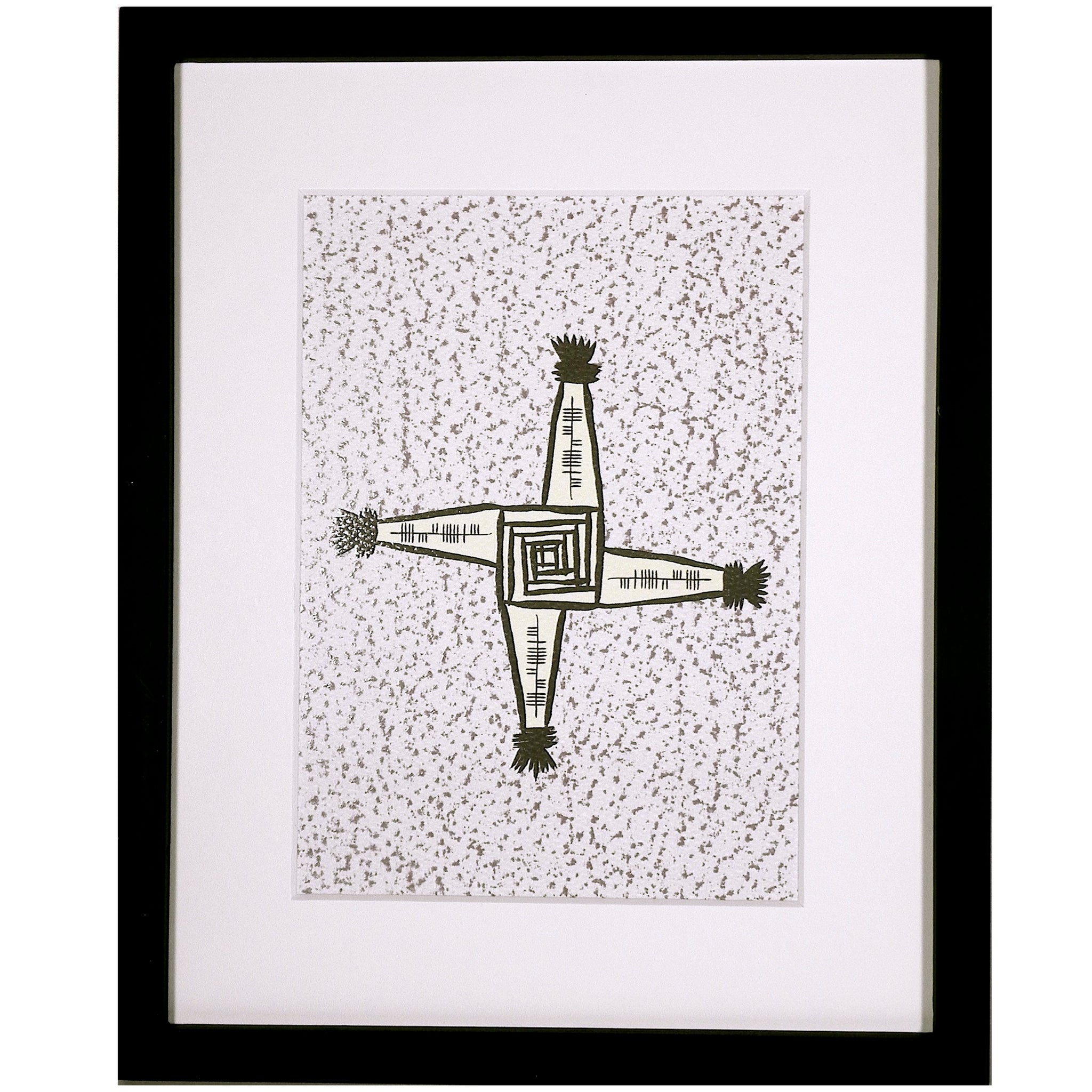 Ogham Art Failte Welcome St. Brigid's Cross Celtic Gift