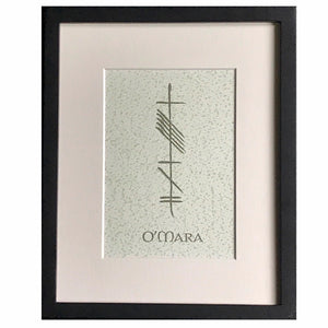 Custom Personalized Ogham 8x10 Print