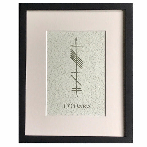 Ogham Art Custom Ogham Celtic Gift