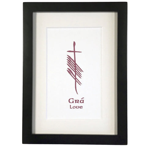 Ogham Art Love Gra Print Celtic Gift