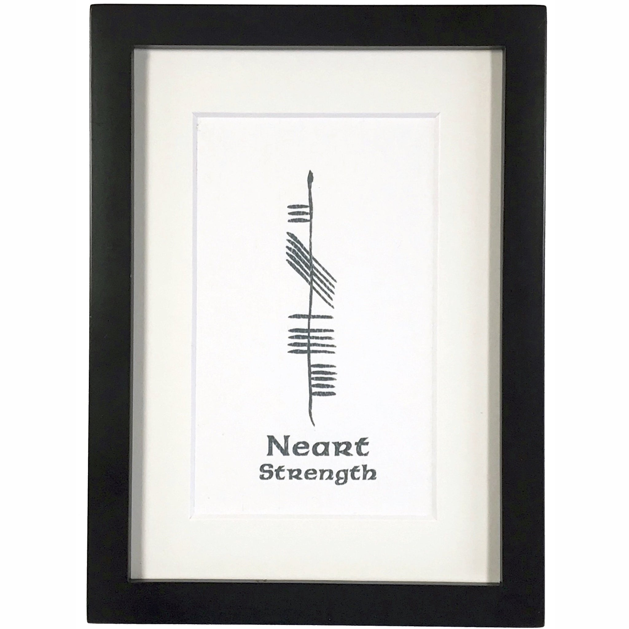 Ogham Art Strength Neart Inspiration Print Celtic Gift