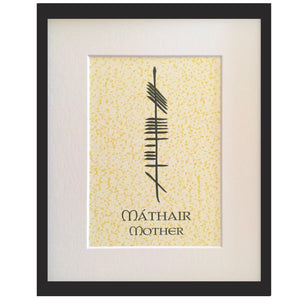 Ogham Art Mother Mathair Print Celtic Gift
