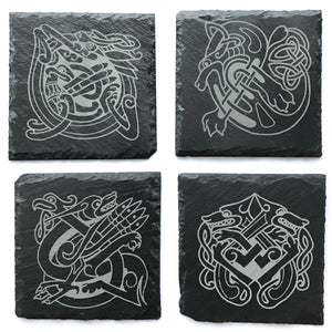Celtic Animals Slate Coasters (Set of 4)