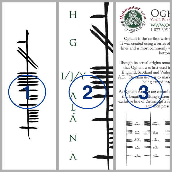 Buy 2, Get 1 FREE Ogham Presentation for Tattoo Consideration