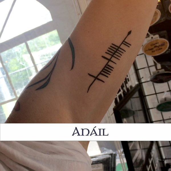 Ogham Tattoo inside arm