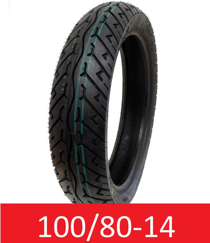 Tire 100/80-14 Tubeless Type