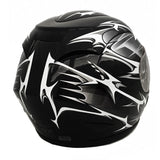 Combo Motorcycle Full Face Helmet DOT Street Legal + 1 Clear Shield and 1 Free Smoked Shield (L, SPIKES Black) with Balaclava