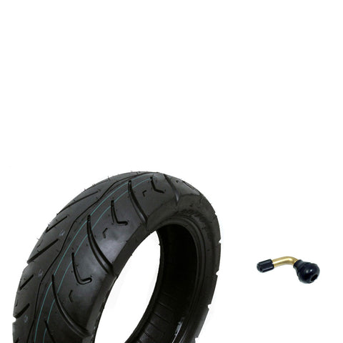 Tire Size 120/70-12 Motorcycle Scooter Tubeless DOT Approved P116 + FREE TR87 90° Bent Metal Valve Stem