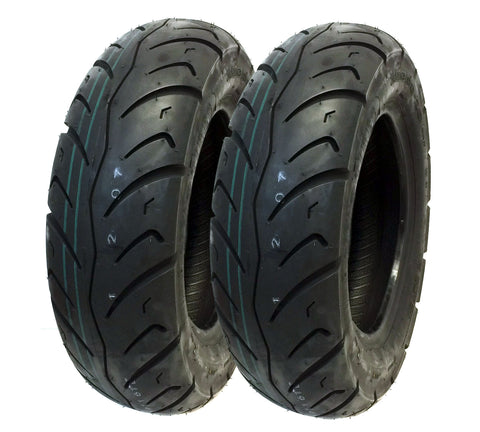 TIRE SET: Front 120/90-10 Rear 130/90-10 Scooter Tire Tread - P116