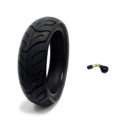 Tire 130/60-13 Tubeless Front/Rear Motorcycle Scooter Moped + FREE TR87 90° Bent Metal Valve Stem