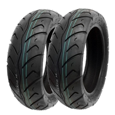 SET OF TWO: Tire 130/70-12 Tubeless Front/Rear