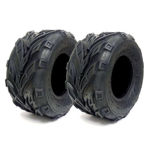 SET OF TWO: ATV Tubeless Type Tires Size: 16x8x7 (16x8-7) (P133) Front or Rear