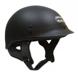 Combo Motorcycle Half Helmet Cruiser DOT Street Legal (L, Rubber Black) with Balaclava