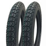 SET OF TWO: 2.75 - 16 (P44) M/C Tires Front/Rear