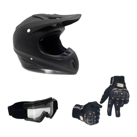 Off Road MMG Helmet + Free OFF Road Goggles and Gloves included.