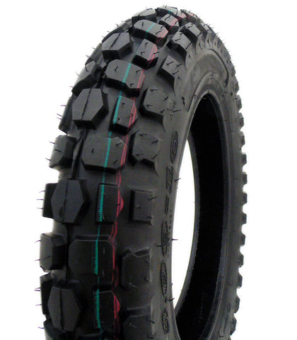 COMBO: Off Road Knobby TIRE Size 3.00-10 + INNER TUBE Size 2.75/3.00-10 TR87 Valve Stem