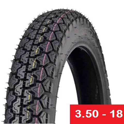 Tire 3.50-18 6PR TUBE TYPE