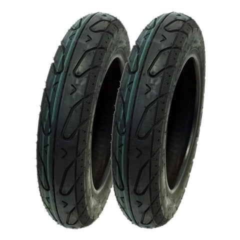"SET OF TWO: Scooter Tubeless Tire 3.00-10 Front Rear Motorcycle Moped 10"" Rim"
