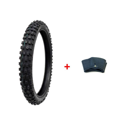 COMBO: Dirt Bike TIRE 70/100-19 + INNER TUBE  & TR4 Valve Stem