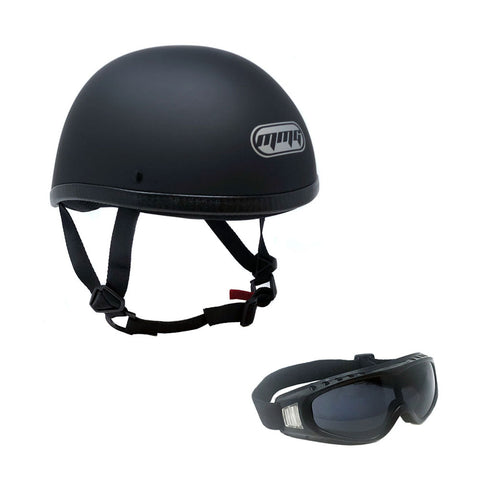Contoured Half Helmet, Free Goggles Included
