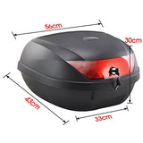 Motorcycle Scooter Top Box Tail Trunk Luggage Box - 51 Lt Capacity - Can Store two (2) Helmet - MGAB_Y0888