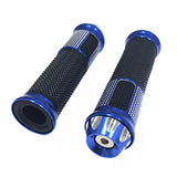 Billet Aluminum Grip Set (LH / RH) DIAMOND BLUE 7/8 (22mm)