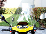 Scooter Windshield 3mm Clear Plastic Acrylic comes with mounting hardware