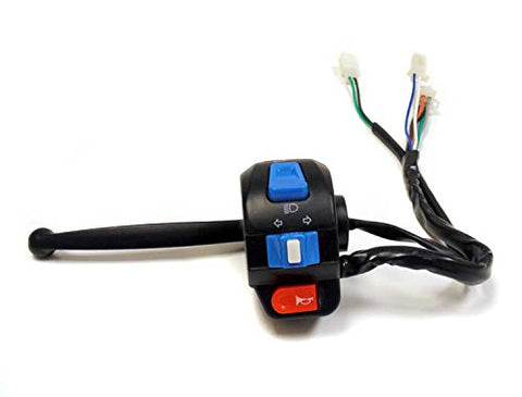 Complete Assembly Left Side Control Switch (High Low Beam, Turn Signals, Horn) with Brake Switch and Lever for Tao Tao ATM 50 / GY6 50cc Scooters