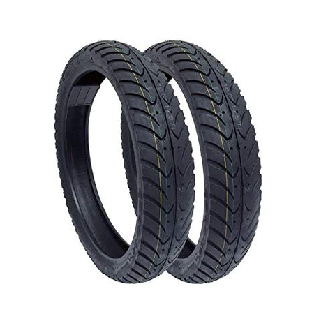 SET OF TWO Motorcycle Tubeless Tire Size 90/80-16 (2.25-16) Street Performance Tread