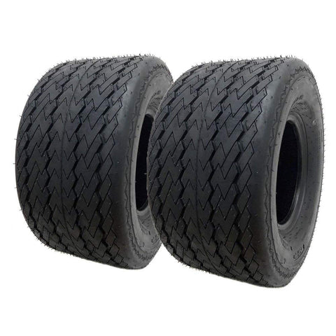 SET OF TWO: ATV Tubeless Type Front Tire 18X8.5-8 fits many lawn movers, Turf saver Lawn & Garden Tire – P165