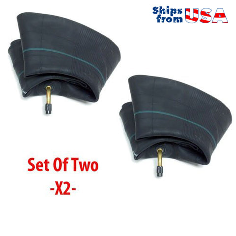SET OF TWO: Motorcycle Inner Tube 2.50/2.75-10 80/90-10 80/100-10 - TR87 Valve