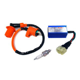 "Scooter ""Troubleshooting No Spark"" Ignition Repair Kit: Coil, CDI, Spark Plug"