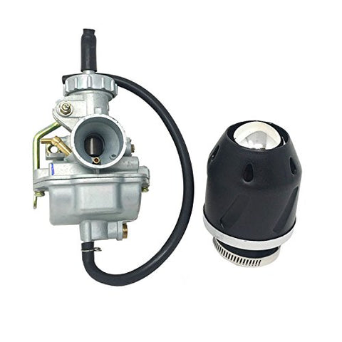 COMBO: Carburetor (LH) Metal Lever Hand Choke fits 4-Stroke Horizontal Engines 20mm and 35mm Air Filter