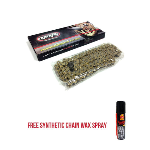 420H 120 Links Standard Transmission Chain Motorcycle Scooter 90-125cc + FREE Wax