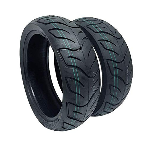 SET OF TWO Tubeless Tires 140/60-13 Front and Rear Street Performance Tread