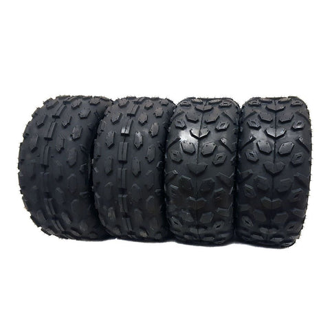 SET OF FOUR (4) ATV Tires 145/70-6, Front and Rear, UTV Go-Cart 145x70x6 (2 x FR Pattern + 2 x Rear Pattern)