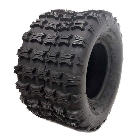 ATV UTV Tire 18X9.5-8 (225/55-8) Split Knobby Tread - Fits Front or Rear ATV UTV Go Karts Mowers (P73)