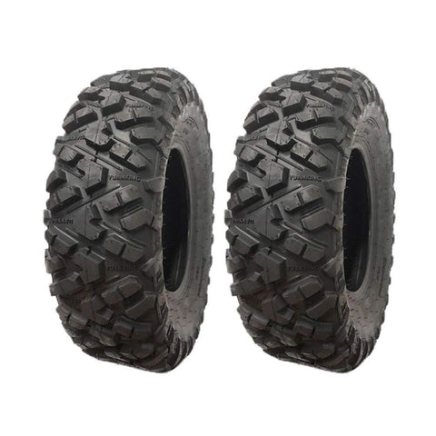 SET OF TWO ATV Tubeless Tires 25x8-12 (P332) Front Fit for ATVs ranging from 400cc up to 1000cc, also used on Lawn Tractors, Golf Carts, and UTVs