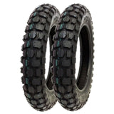 SET OF TWO: Knobby Tire 3.00 - 10 Front or Rear Trail Off Road Dirt Bike Motocross Pit