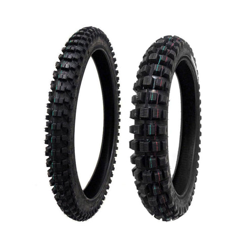 TIRE SET: Front 80/100-21 Rear 120/90-19 Dirt Bike Off Road