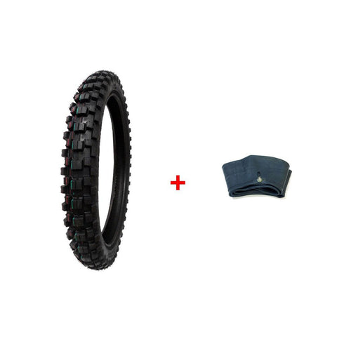COMBO: Dirt Bike TIRE Size 70/100-17 + INNER TUBE Size 70/100-17 TR4 Valve Stem