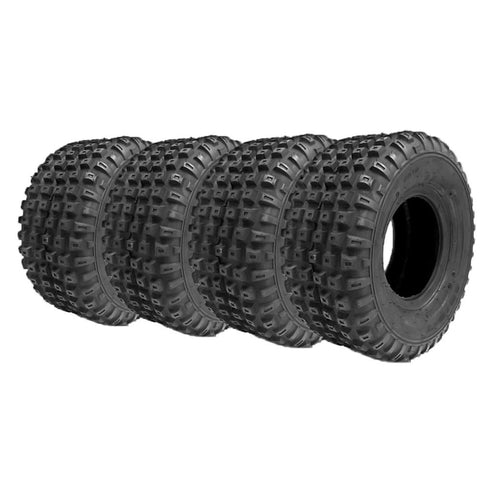 Set of 4 16x8.00-7 (205/55-7) ATV UTV ATV Tires New Pack of four tires 16x8-7 | P94 Knobby Tread