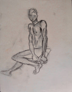 Sitting Dancer nude 2 11x14