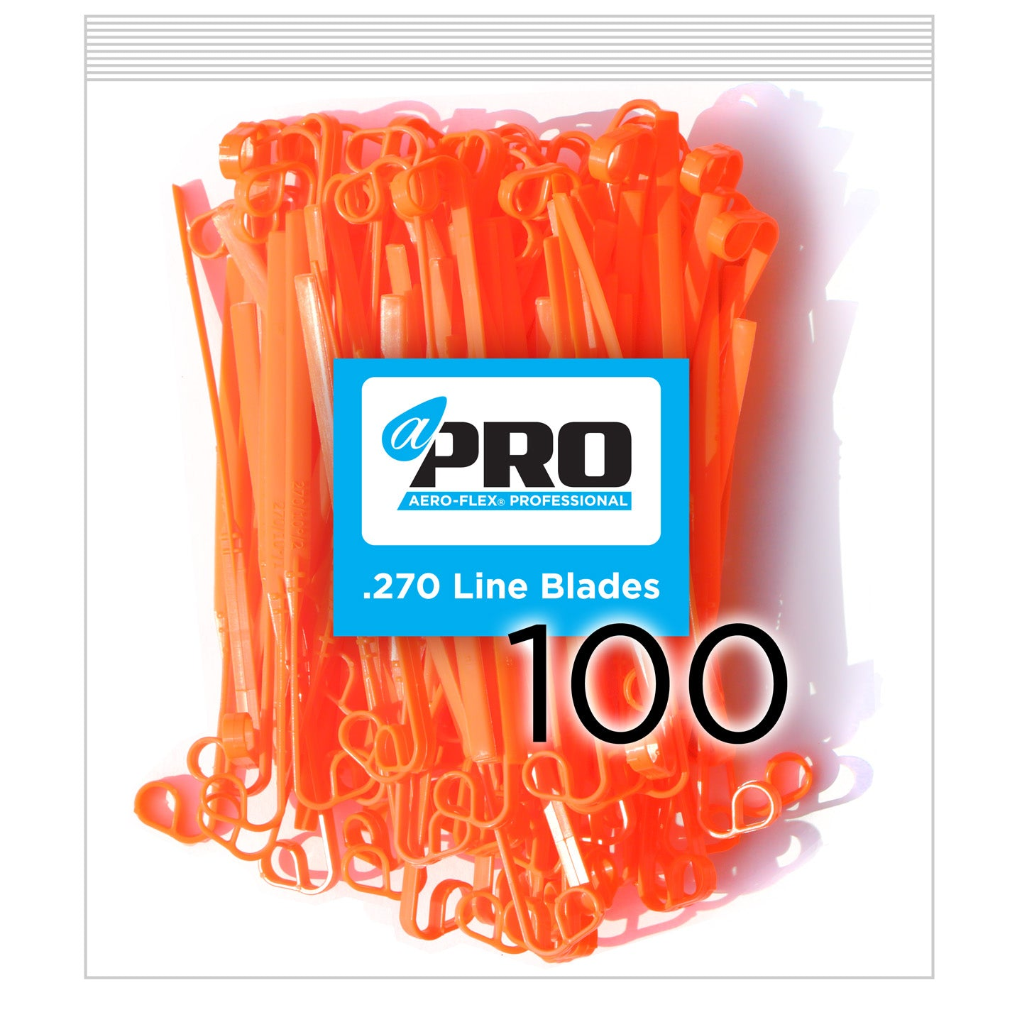 100 Pro .270 Line Blades - Orange (CW Sharp Side Leading)